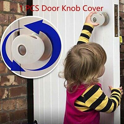 1PC Child Proof Safe Door Knob Cover Children Safety Lock Kids Toddler E