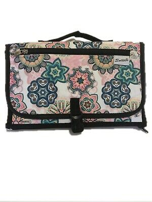 Travel Nappy Bag Mummy Baby Change Mat Clutch Foldable Pad Waterproof Floral