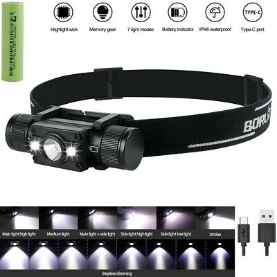 Super Power 990000LM XHP50 LED USB Rechargeable 18650 Lamp Headlight Head Torch
