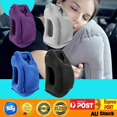 Pro Inflatable Air Travel Pillow Cushion Neck flight Comfortable Support Nap AU