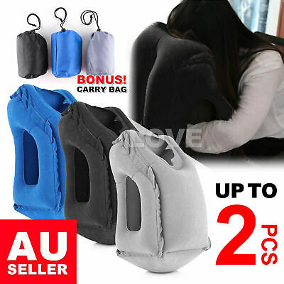 Inflatable Air Travel Pillow Cushion Neck flight Comfortable Support Nap Home AU
