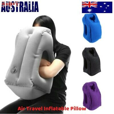 Inflatable Air Travel Pillow Cushion Neck flight Comfortable Support Nap Relax A