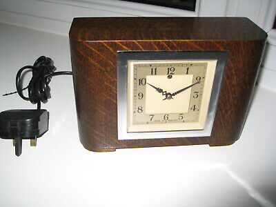 Fantastic Condition ART DECO electric mantle clock, Working Fine.