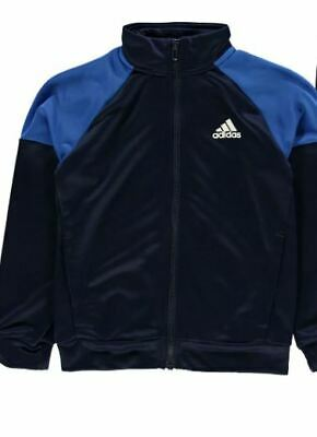 Adidas Linear Logo Poly Tracksuit Junior Boys Blue Top Age 11-12 Years *REF160