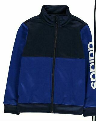 Adidas Linear Logo Poly Tracksuit Junior Boys Blue Top Age 7-8 Years. *REF160