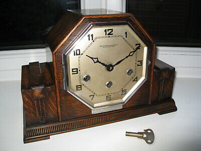 Fantastic,  rare ART DECO Westminster Chime  clock, Northern Goldsmiths Company