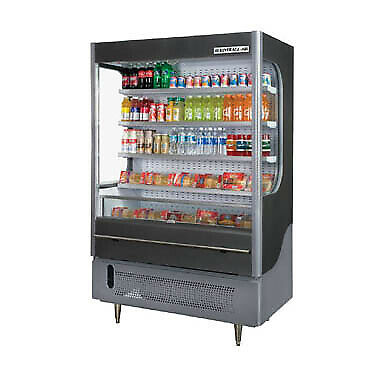Beverage Air VM18-1-G-LED Open Refrigerated Display Merchandiser