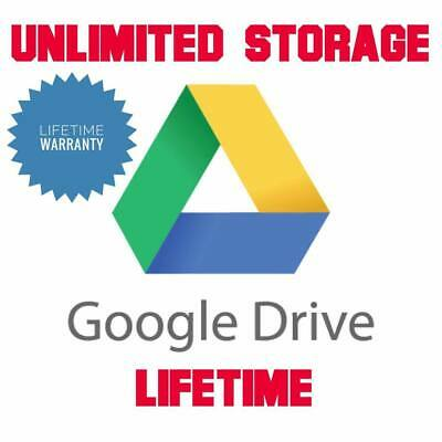 Unlimited Google Drive Storage/ Cloud Drive (Added Existing Gmail within 24h)