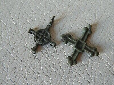 Ancient Vikings Bronze Cross Antique Cross Pendant 2 psc