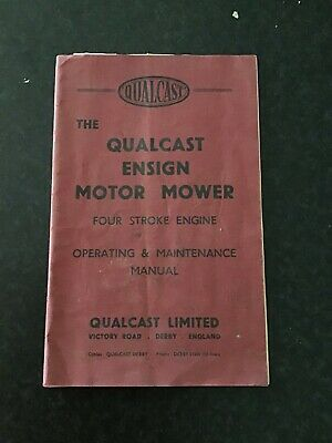 VINTAGE QUALCAST Ensign MOTOR LAWN MOWER OPERATING Owners Manual Pamphlet