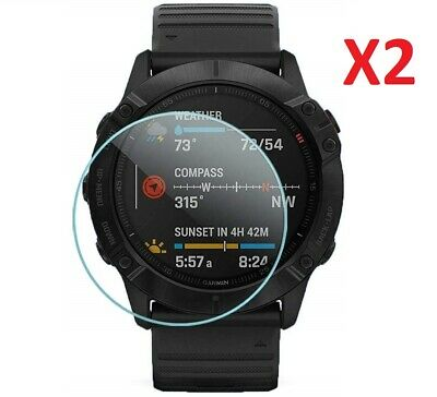 2 X Tempered Glass Screen Protector For Garmin Fenix 6X / 6X Pro