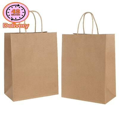 30Pcs Brown Paper Bags With Handles,Xmas Party Bag,Gift Bags,Paper Carrier Bags