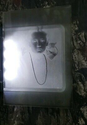 "Antique Glass Dry Plate Photo Negative 5""×7"" Photograph Of A Girl"