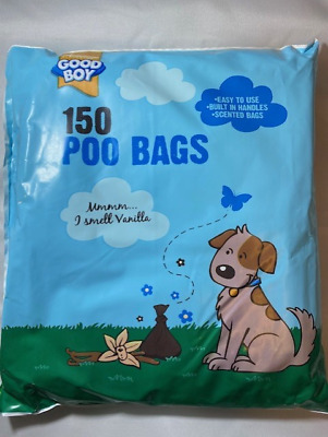 Dog Poo Bag Poop Scoop Bag 150 Scented Easy To Use Tie Handle Great Value Pack