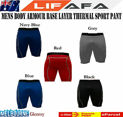 Mens Boys Body Armour Compression Base Layer Thermal Under Shorts Sport Skins M1