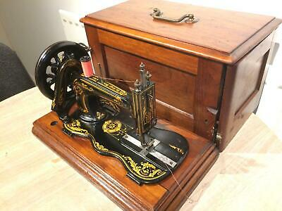 1885 Antique Singer 12K fiddle base handcrank sewing Machine **Acanthus leaves