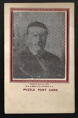 1906 Theodore Roosevelt White House Deeks Co. Lenticular Flasher Postcard Type B