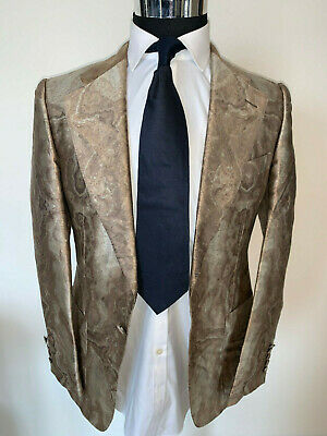 ⭐️ Men's Gucci Luxurious 100% Silk  Sport Coat Jacket 36 Regular 36R ⭐️