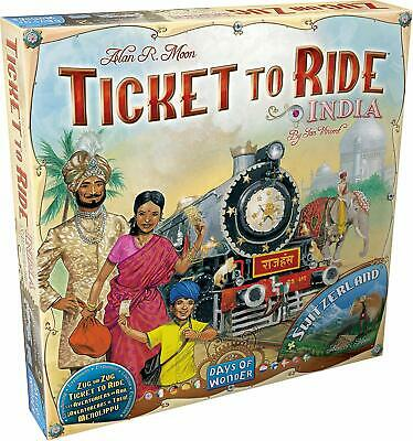 Ticket to Ride: Map Collection Vol. 2 India and Switzerland Days of Wonder NEW