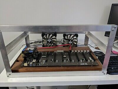 Onda B250 riserless 8 PCIe slot mining motherboard WITH CPU, RAM, PSU & frame