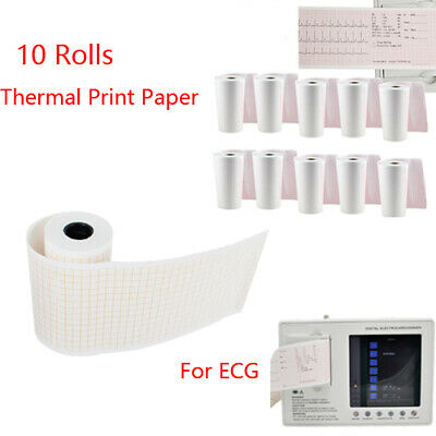 10 Rolls Thermal Print Paper 80mmx20m for ECG EKG Electrocardiograph Machine