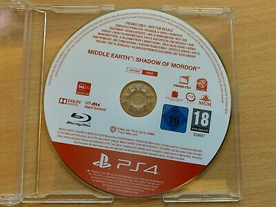 Middle Earth Shadow Of Mordor Warner Bros(Sony PlayStation 4 PS4, 2014)Disc Only