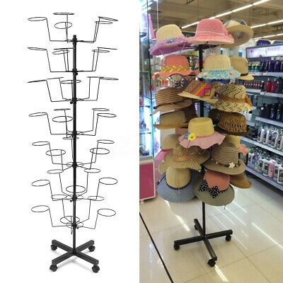 35 Holder 7 Tier Hat Cap Rotating Spinning Stand Rack Display Holder Organiser