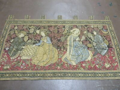 2' X 4' Antique TAPESTRY French with wires