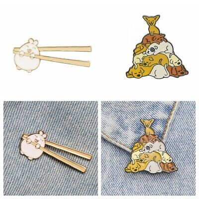 Kids Girls Fashion Cute Cartoon Enamel Pins Animal Badge Dog Brooch Honey