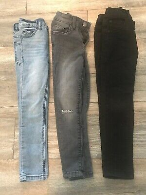 NEXT Boys X 3 Pair skinny jeans age 6 Years BUNDLE