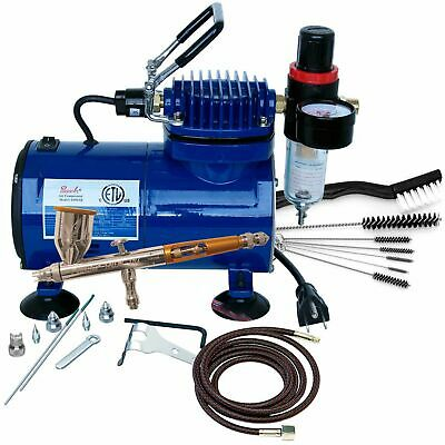 Paasche Talon Airbrush/Compressor/Cleaning Package TG3F, D500SR, & AC7 PASTG100D