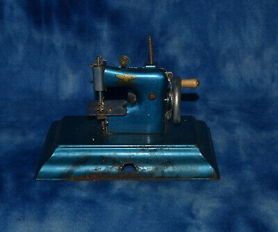 TOY CHILD'S SEWING MACHINE CASIGE MADE IN BRITISH ZONE GERMANY 1950's