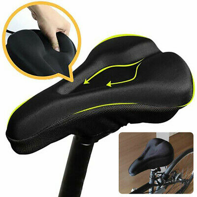 Bike Cycle Bicycle Extra Comfort Gel Pad Cushion Cover Seat For Saddle Z3B8