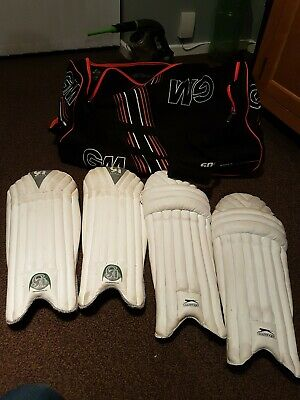 Junior Batting Pads & Wicket Keeping Pads And Bag Great Condition