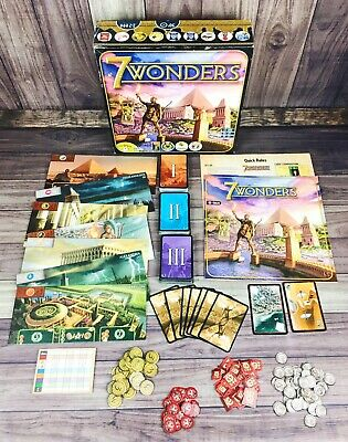 7 Wonders SEVEN WONDERS Board Game by Repos Production COMPLETE *FREE SHIPPING*