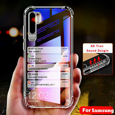 For Samsung Galaxy S20 S10 Note 10 Plus A71 Shockproof Clear Soft Silicone Case