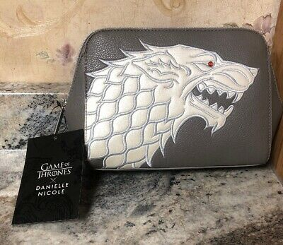 New Game Of Thrones Danielle Nicole House Stark Cosmetic Bag Box Lunch Exclusive