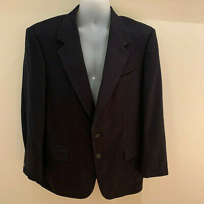 Sulka Made In Italy Black 100% Cashmere Sport Coat Jacket Blazer Size 42R