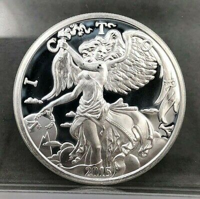 Capsule BUPRL Lot A1 2015 Goddess Nike 1 Troy Oz .999 Solid Silver Round Coin
