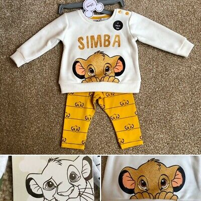 Disney THE LION KING SIMBA Baby Girls Outfit Set Clothes 3-6 Months - Primark
