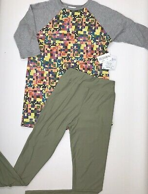 LuLaRoe Sloan Size 12 & Tween Kids Leggings Outfit - All Over Print New