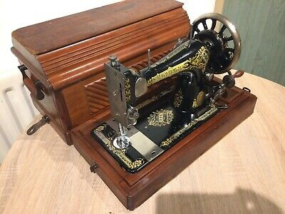 1906 Antique Singer 28K HandCrank Sewing Machine with case