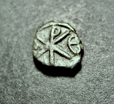 Byzantine Emperor Coin, ⳩ Chi-Rho Christogram, Constantinople 6th Cent.11-13mm