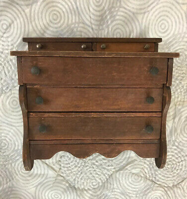 Early AAFA Handmade Antique Doll's Chest of Drawers