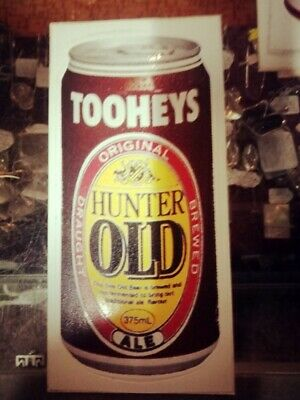 Vintage Original Tooheys Hunter Old Ale Beer Can Sticker Decals