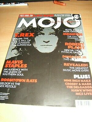 Mojo Magazine Issue 138 May 2005 features T Rex, Lou Reed Robert Plant + CD