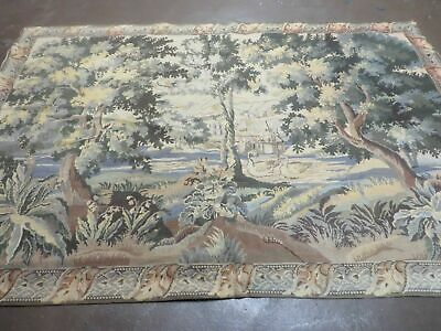 4' X 6' Vintage TAPESTRY Hand Made Petitpoint Needlepoint One Of A Kind