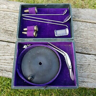 Antique Medical Otoscope Dentistry Dentist Set Tools Collectible RARE