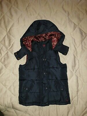 Girls Navy And Floral Joules Gillet/Body Warmer Age 5 Years