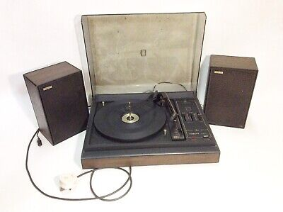 Vintage Fidelity UA10S Record Player, Stereo, BSR Turntable With Speakers, Retro